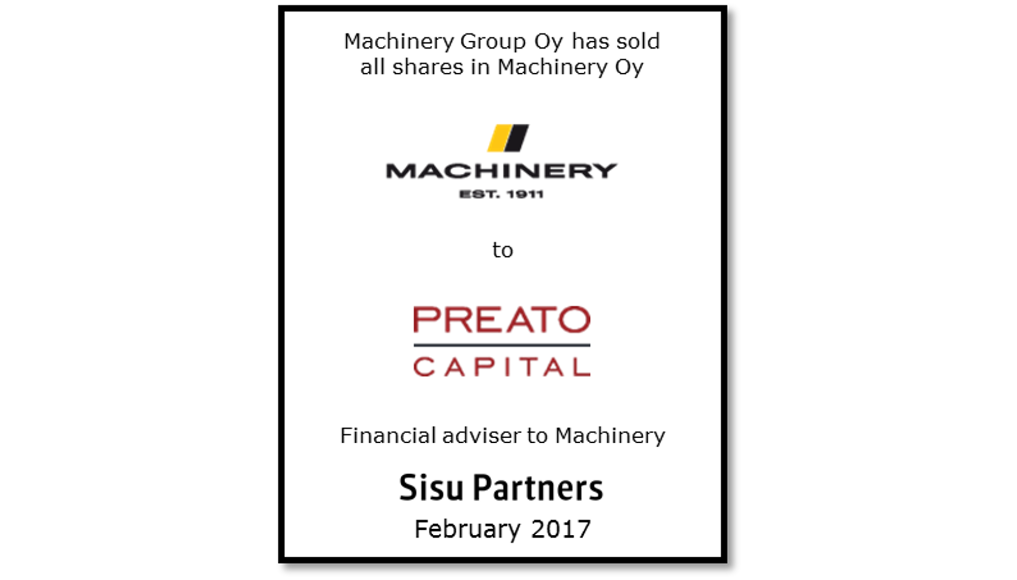 Machinery Preato Capital