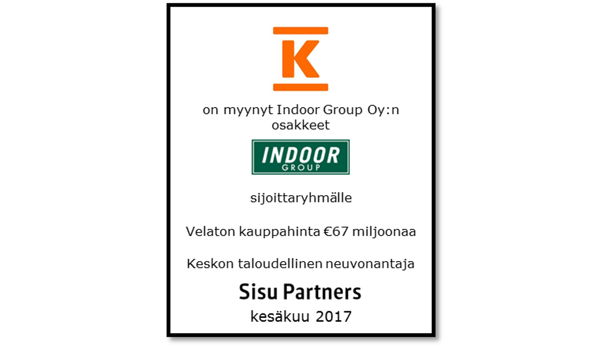 Kesko - Indoor Group fin